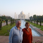 Enjoying my day of rest with my wife at the Taj Mahal in Agra.