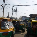 Sharing the road with a multitude of Tuc Tuc in Agra